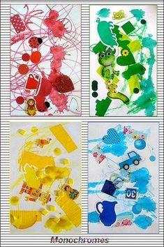 Monochromes faits avec tout ce qu'on a pu trouver de couleur....