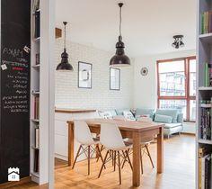 Jadalnia - zdjęcie od Kameleon - Kreatywne Studio Projektowania Wnętrz Dream House Interior, Home Interior, Studio, Office Desk, Home Furniture, Sweet Home, Loft, Dining Table, Minimalist