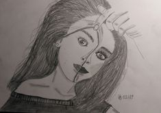 Black And White Drawing, Female, Drawings, Vestidos, Sketches, Sketch, Drawing, Portrait, Draw
