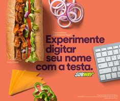 SUBWAY Brasil on Behance Food Graphic Design, Food Menu Design, Food Poster Design, Food Advertising, Creative Advertising, Interactive Web Design, Food Banner, Poster Layout, Food To Go
