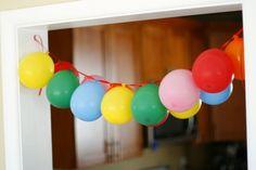 Hanging balloon banner