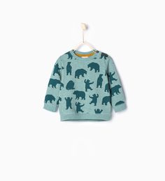 omg zara baby is all I want for my little man! ZARA - KIDS - Bears sweatshirt