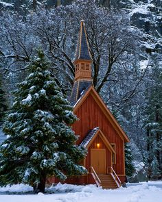The Chapel, Yosemite, CA - Explore the World with Travel Nerd Nici, one Country at a Time. http://TravelNerdNici.com