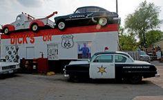 Dick's Garage on Route 66 in Joliet, Illinois