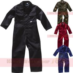 Activewear Tops Men's Clothing Kids Boilersuit Childrens Vercro Front Work Coverall Boys Girls Overalls School Easy To Lubricate