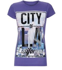 Purple LA City T-Shirt