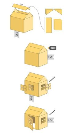 1 million+ Stunning Free Images to Use Anywhere Cardboard Houses For Kids, Cardboard Box Crafts, Cardboard Playhouse, Diy Crafts For Kids, Fun Crafts, Cat House Diy, Art N Craft, Diy Stuffed Animals, Diy Toys