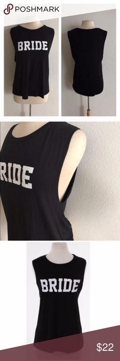 """(S-2x) Bride tank top Bride tanks. 95% rayon/ 5% spandex. Super soft and stretchy!! Muscle tank style (low cut on the sides). This style allows for virtually any bust size to fit. These run very true to size! Dress form is showing size M. Length measurements:  S: 26.5"""" • M: 27"""" • L: 27.5"""" 1x: 28"""" • 2x: 29""""  ⭐️This item is brand new with tags Price is firm unless bundled ✅Bundle offers Availability- S•M•L • 5•4•1 1x•2x • 1•1 Tops Tank Tops"""
