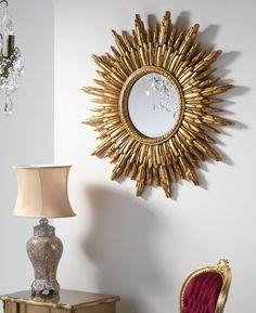 Sunburst £95 Sun Mirror, Modern Hallway, Round Mirrors, Vintage Vibes, Gold Accents, Master Bedroom, Home Decor, Master Suite, Decoration Home