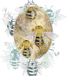 """Shadowscapes - Stephanie Pui-Mun Law - Inspiration - Shadowscapes – Stephanie Pui-Mun Law — """"Fading Multitude"""" – drop my upcoming new - Art And Illustration, Fantasy Kunst, Fantasy Art, Art Sketches, Art Drawings, Megan Hess, Insect Art, Bee Art, Mellow Yellow"""