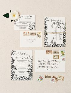 Wedding invitation with floral elements utm_content=buffere0186&utm_medium=social&utm_source=http://pinterest.com