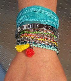 Ibiza Style armband roos en kwastje | Armbanden dames | Bizzy 1