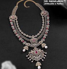 Diamond Earrings Indian, Diamond Jewellery, Jewelery, Jewelry Necklaces, Gold Necklace, Neck Piece, Jewellery Designs, Indian Jewelry, Layers