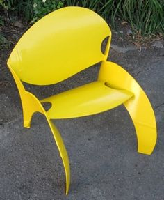 chair made from old propane tanks (by colin selig)