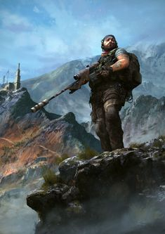 ArtStation – Ghost Recon Wildlands – Iconic illustrations Michel Donze - Minecraft, Pubg, Lol and Fantasy Comics, Anime Fantasy, Military Life, Military Art, Airborne Ranger, Game Wallpaper Iphone, Military Special Forces, Future Soldier, Zombie Art