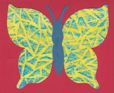Motýl – frotáž