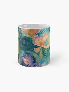 'Fantasy Flowers' Mug by Adele Buys Framed Prints, Canvas Prints, Art Prints, Sell Your Art, Art Boards, Iphone Cases, Throw Pillows, Fantasy, Mugs