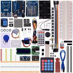 Kuman NEW Arduino Components With UNO R3 LCD servo Ultimate Starter RFID Learning Kit for Arduino UNO Nano Learners beginner Complete 48 Set kits K25