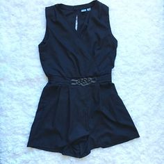 Super Cute Romper only used for an hour. Very pretty belt line detail. Pants Jumpsuits & Rompers