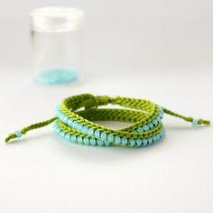 crocheted beaded bracelet by itsmemary on Etsy