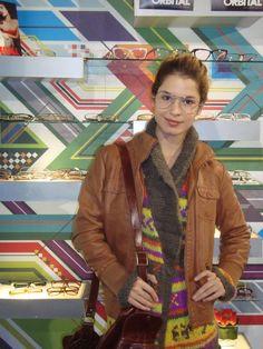 Chachi Telesco visitó el Orbital Store de Palermo Soho para conocer la línea completa de gafas, anteojos y snow goggles que presenta la marca.