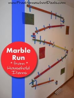 Who needs to spend a lot of money on a marble track?  Not us!  Because today, we are building a marble run that will not only thrill and engage your kids, b