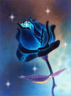blu rose.gif - Rose glitter grafica glitter immagini fiori gif animate-Roses glitter graphics glitter flowers animated gif images Grafica gl...