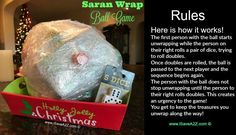 The Saran Wrap Ball Game Rules and Ideas I promise you that fun will be had by all when you play the Saran Wrap Ball Game! (It's called the Saran Wrap game but I use whatever plastic wrap is on sale at the time!)  This game is an excellent ice breaker and a perfect wayContinue Reading...