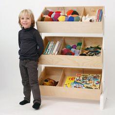 Oeuf Spielsachen-Regal in Birke/weiß