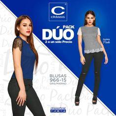 #DúoPack de Cklass - Los mejores Catálogos de México son básicos imprescindibles en tu guardarropa, son piezas base para todo tipo de outfits a los que tu puedes añadir un personal con complementos distintos para cada ocasión  #cklass #moda