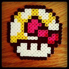 Mario Mushroom with Hello Kitty Bow Perler Bead