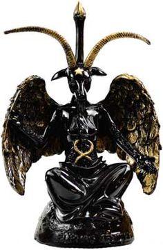 Black Baphoment Statue 8 Inch