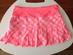 Ivivva by Lululemon Skirt Skort Coral Pink Plaid Girls Size 12 #Ivivvabylululemon #Athletic