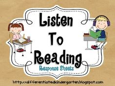 FREEBIE These sheets are available for you to use for your response to listening needs.  There are several different kinds of skills covered and, for those...