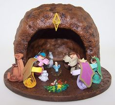 Christmas Quilling Nativity , Paper filigree , Quilling , Handmade quilled nativity