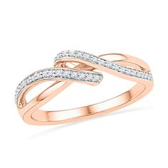 Jpearls 18kt Rose Gold Noble Diamond Ring