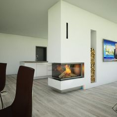 We advise, plan and build fireplace for over 15 years. Our fireplace exhibition is in Gütersloh. Diy Fireplace, Modern Fireplace, House Floor Plans, Future House, Living Room Decor, Sweet Home, Flooring, Architecture, Building