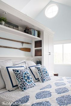 Nautical Inspired Master Bedroom Makeover ! Amazing Before and After !