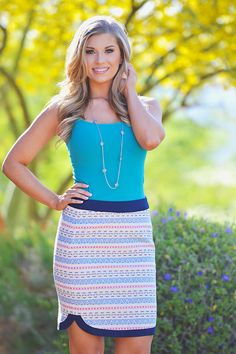 It's Not All Business Skirt - Navy from Closet Candy Boutique