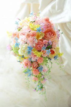 Pastel Bouquet, Pastel Flowers, Floral Bouquets, Wedding Bouquets, Beautiful Flowers, Wedding Flowers, Burlap Wedding Arch, Flower Cart, Hand Flowers
