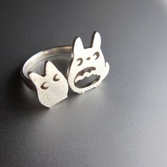 My Neighbor Totoro Ring - Handmade Sterling Silver Ring