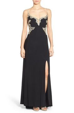 Jump Apparel Open Back Embellished Gown available at #Nordstrom