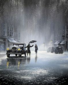 "Rainy night.  ""Who's Gonna Drive You Home"" by Jeff Rowland"