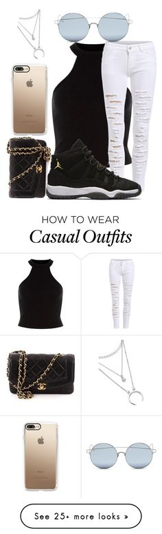 """casual class"" by kaylaxanais on Polyvore featuring NIKE, Chanel, Casetify and For Art's Sake"