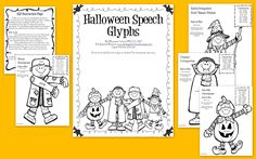 Halloween Speech Glyphs — so much fun for speech students to color and respond to!