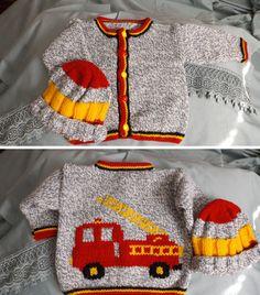Firefighter Jacket, Baby Boy Knitting, Fire Engine, Hadley, Little Man, Monkeys, Future Baby, Grandkids, Knitting Patterns