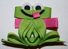 Frog Hair Bow.... Mom would LOVE this :)