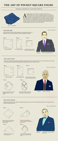 The Art of Pocket Square Folds by Christopher J. Lee, via Behance