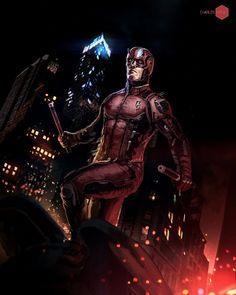 Marvel Comic Universe, Comics Universe, Marvel Comics, Hells Kitchen, Daredevil, Concept Art, Digital Art, Batman, Darth Vader