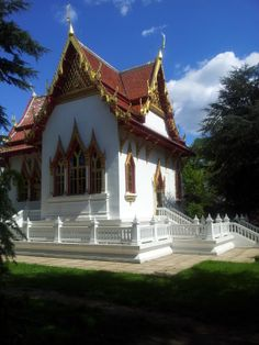 Thai Buddhist Temple in Wimbledon, South West London (near to where the tennis tournament is held). It's a glorious temple.